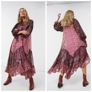 NEW Free People Estelle chiffon maxi dress